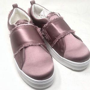 Sam Edelman Pink Distressed Fabric Levine Sneaker